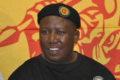 Julius Malema leader de la branche jeune de l'ANC
