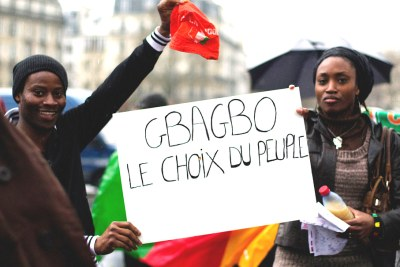Laurent Gbagbo supporters in Europe (file photo).