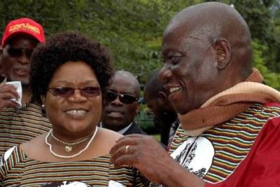 Zimbabwe Vice-President Joice Mujuru with her late husband retired General Solomon Mujuru.