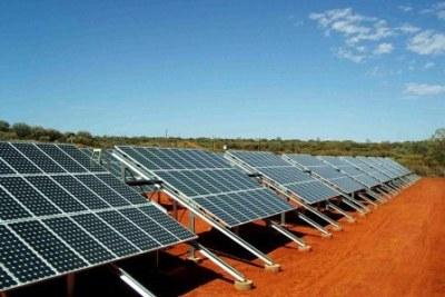 Solar panels in Tunisia.