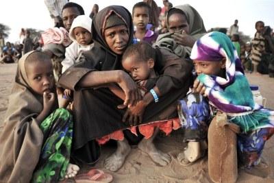 Nouveaux arrivants au camp de réfugiés de Dadaab, dans l'est du Kenya