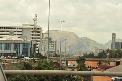 Buildings in Abuja, Nigeria.
