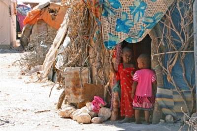 Un camp de personnes déplacées à Garowe, au Puntland.