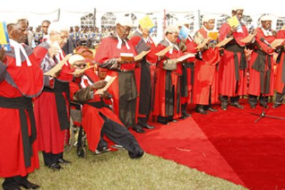 Judges taking the oath of office (file photo).