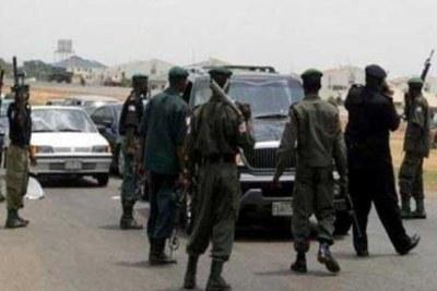 La police nigériane sur le terrain