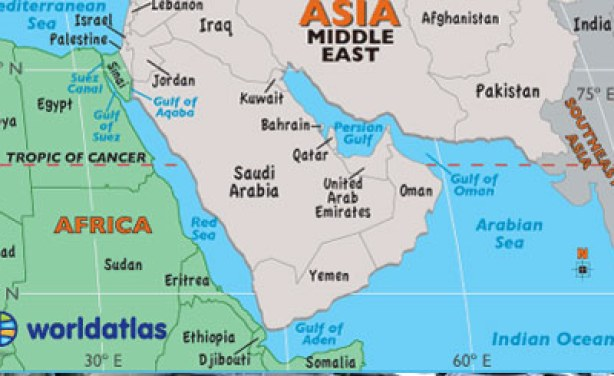 Middle East Map With Countries.Kenya Stops Export Of Labour To Middle East Allafrica Com