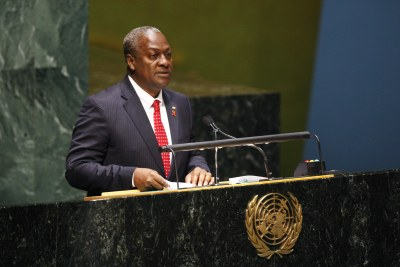 President John Dramani Mahama, pictured when he was Vice President.