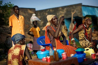 Women In A Market In Lakes State.