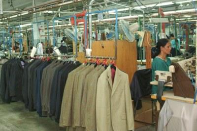 Une usine de textile à Maurice