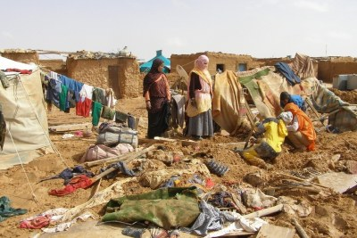 Sahrawi refugees (file photo).
