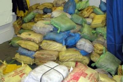 (Photo archive) - Une quantité de drogue saisie en Guinée, un des pays d'Afrique de l'Ouest
