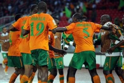 Les zambiens champions d'Afrique en 2012.