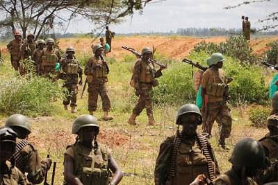 (Photo d'archives) La force multinationale d'Afrique centrale se renforce en Centrafrique avec l'arrivée de militaires camerounais, congolais et autres nationalités de la région