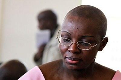 Victoire Ingabire, politicienne de l'opposition rwandaise.