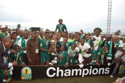 L''AC Léopards de Dolisie, championne 2012 de la Coupe de la Confédération Orange