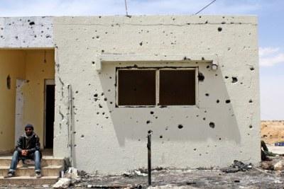 (Photo d'archives) . Un rebelle libyen.