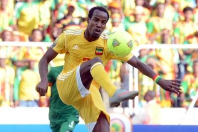 L'Ethiopien Saladin Said lors du match contre la Zambie.