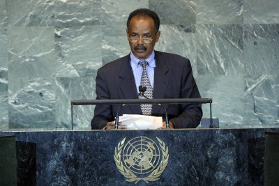 Isaias Afwerki, the President of Eritrea.
