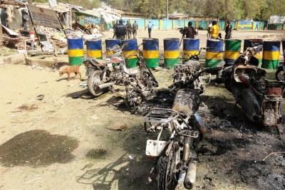 Dégâts causés par la milice Boko Haram au quartier général de la police de Kano (photo d'archives)