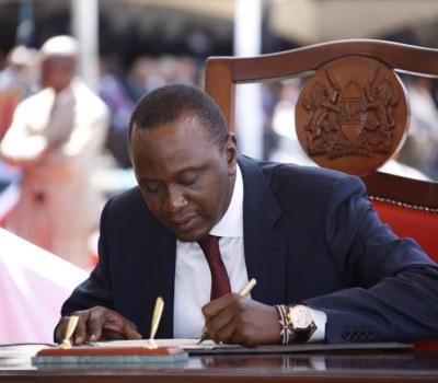 Prestation de serment du président kenyan Uhuru Kenyatta