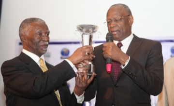 Mbeki Accepts African of Year Award