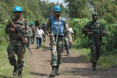 Une patrouille conjointe de la MONUSCO et des FARDC dans le Nord Kivu, en République démocratique du Congo (RDC)