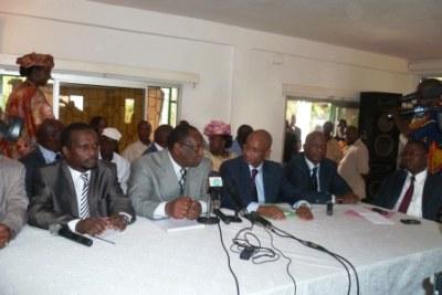 Les membres de l'opposition en Guinée