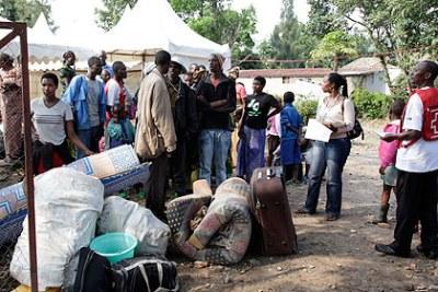 Des réfugiés congolais à Goma-Rubavu.