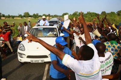 A warm welcome for Ibrahim Boubacar Keita (file photo).