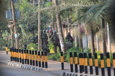 Forces de sécurité au centre commercial Westgate attaqué  par des terroristes (photo archive).