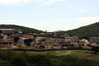 La Résidence privée de Jacob Zuma à Nkandla, KwaZulu-Natal.