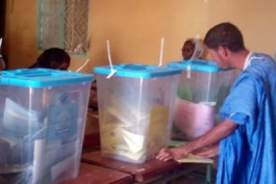 Un bureau de vote