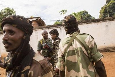 Colonel Saleh, un commandant des rebelles Seleka.