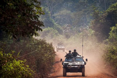 French soldiers on patrol in Central African Republic (file photo).