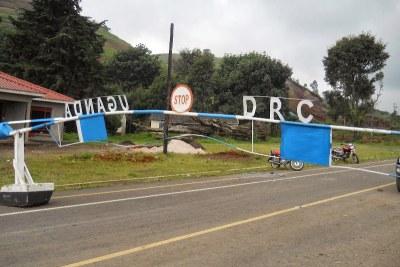 Bunagana, poste frontalier entre la RDC et l'Ouganda.