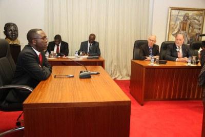 Le Premier Ministre,  Matata Ponyo, a reçu en audience, le mercredi 11 juin dernier, des investisseurs américains, à l'hôtel du gouvernement, dans la commune de la Gombe.