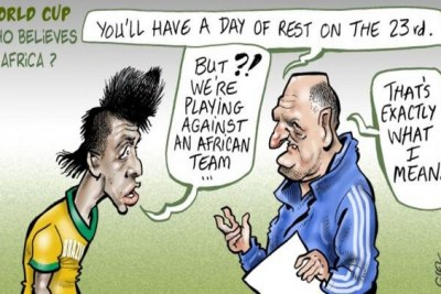A satire of African teams at the World Cup.
