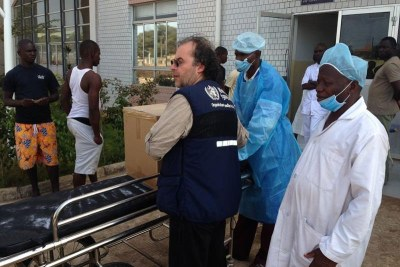 The arrival of protective gear in Guinea (file photo).
