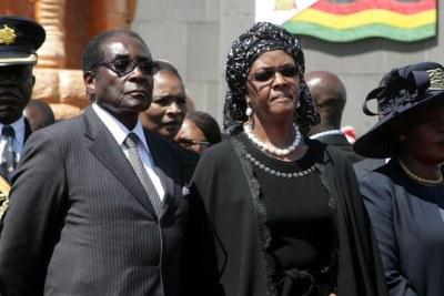 Robert and Grace Mugabe.