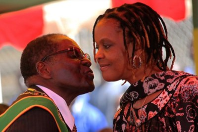 Former president Robert Mugabe and his wife Grace Mugabe (file photo).