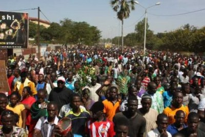 More than one million people to the streets to deter President Blaise Compaore from changing the constitution of Burkina Faso in order to a third term in 2015.