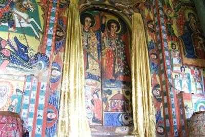 Painting in church in Bahar Dar.