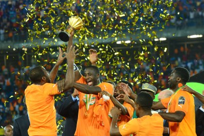 Cote d'Ivoire celebrate their victory at the 2015 Africa Cup of Nations.