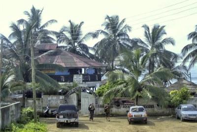 A resort on the Ghana coast.