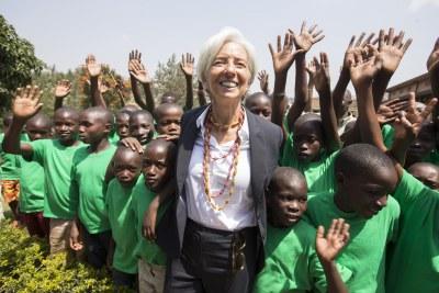Christine Lagarde à Kigali, Rwanda.