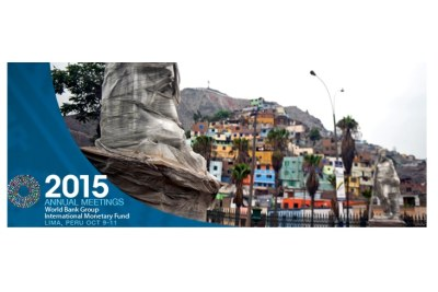 2015 World Bank-IMF Annual Meetings in Lima, Peru from Oct9-11.