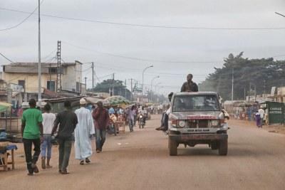 A street in Bangui.