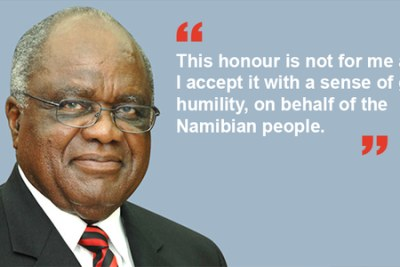 President Hifikepunye Pohamba - recipient of 2014 Ibrahim Prize for Achievement in African Leadership.