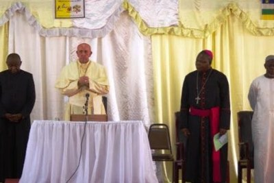Pope Francis in Bangui.