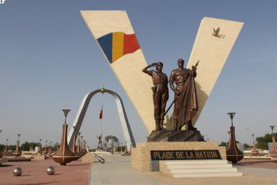 Place de la Nation, à Ndjamena, Tchad.
